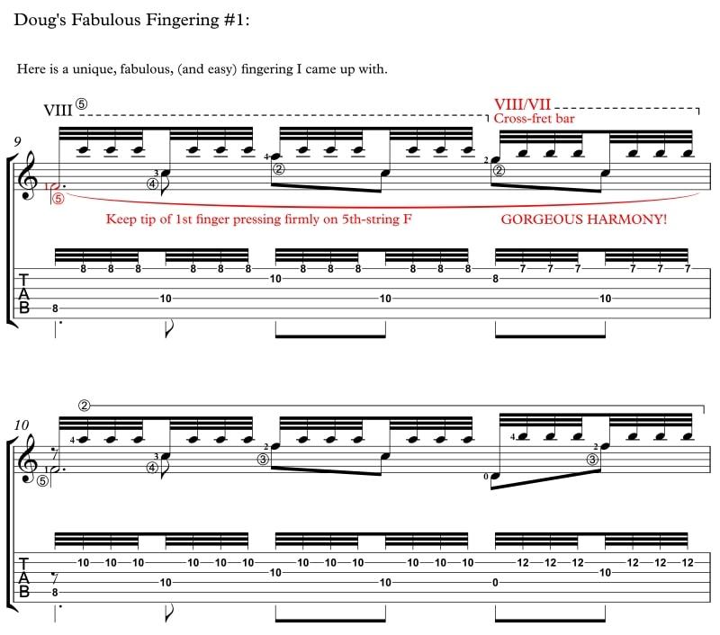 Douglas Niedt's Fabulous Fingering for Recuerdos de la Alhambra