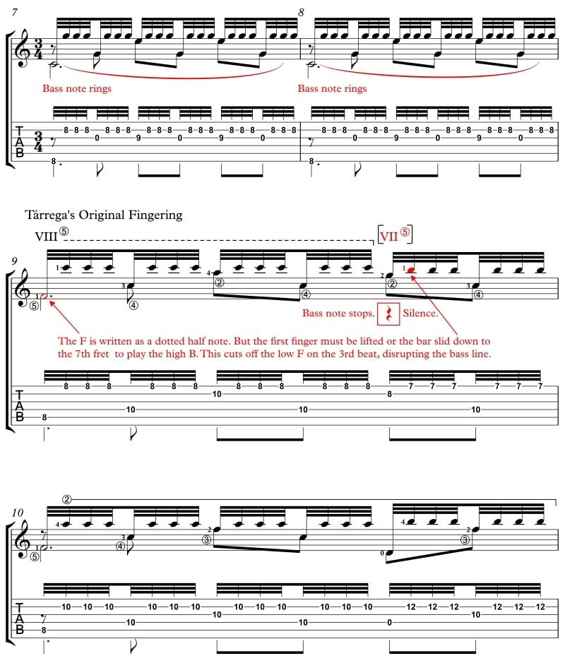 Recuerdos Fabulous Fingerings Classical Guitar Lesson