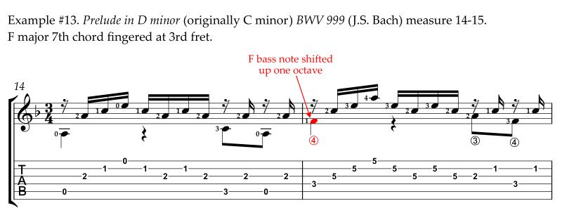 Bach Prelude in D minor alternative easier revised fingering bass on 4th string measure 12-17