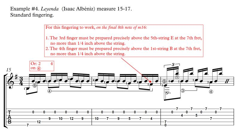 Leyenda or Asturias standard fingering measure 15-17