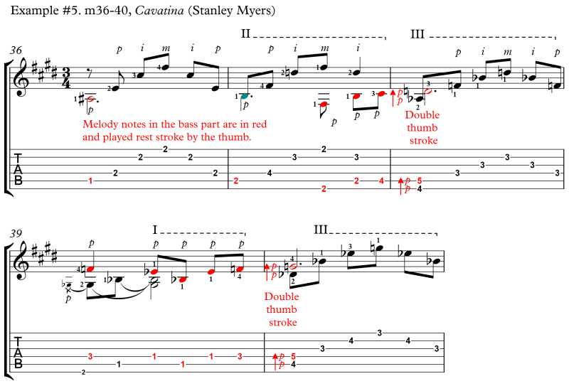 How to Play the Double Thumb Stroke (double stop on adjacent