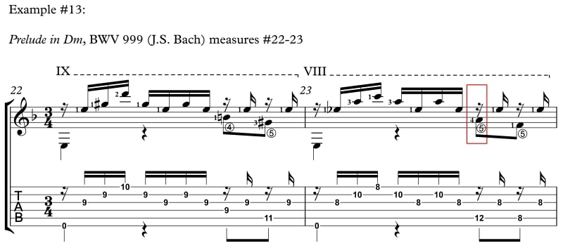 Example 13 How to Reach Difficult Stretches and Nasty Chords