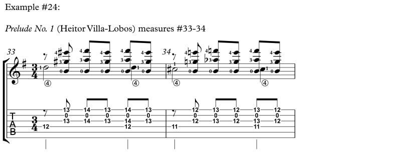 Example 24 How to Reach Difficult Stretches and Nasty Chords