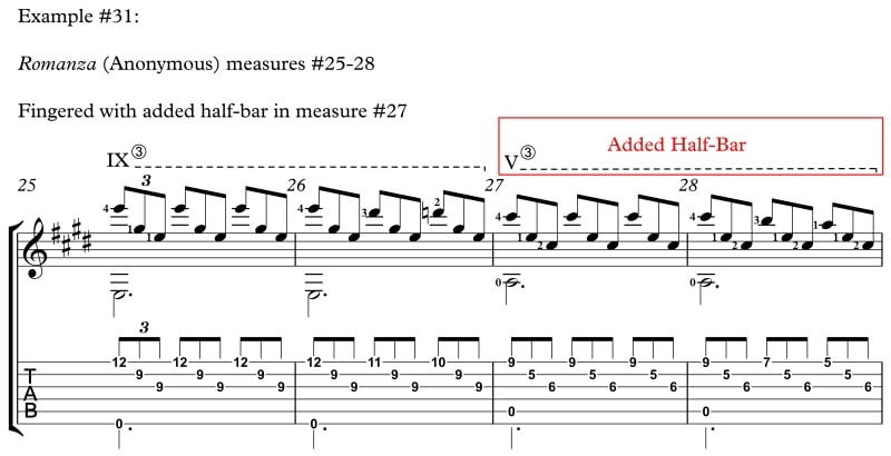 Example 31 How to Reach Difficult Stretches and Nasty Chords