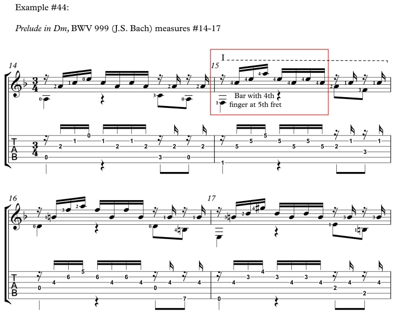 Example 44 How to Reach Difficult Stretches and Nasty Chords