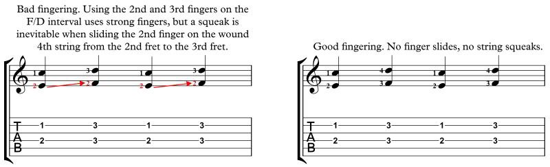 practicing intervals, bad fingering ex 3
