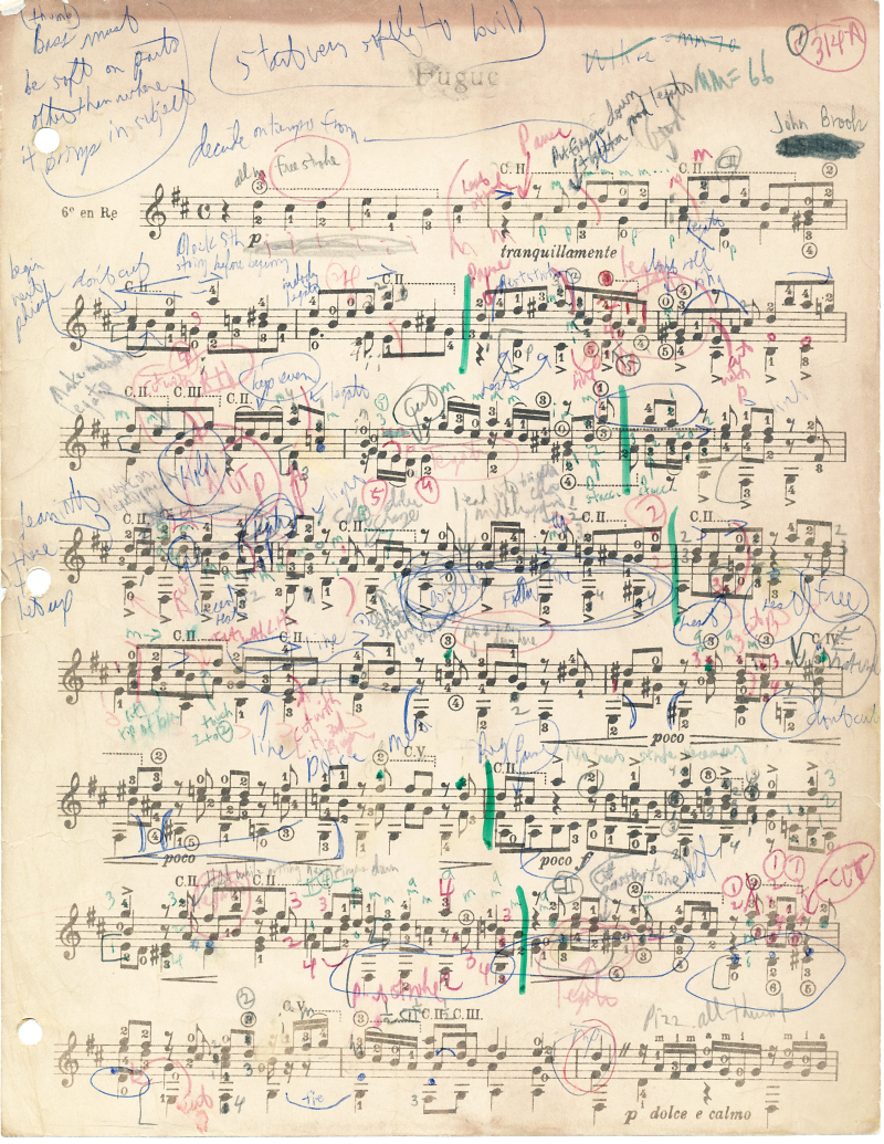 Annotated Fugue