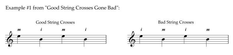 TECHNIQUES et MUSIQUES, IMPROVISATION pour GUITARE. 5 doigts main droite (6, 7 & 8 strings) Example1fromGoodStringCrossesGoneBad800x190