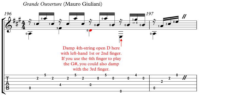 Grand Overture LH Finertip Damps