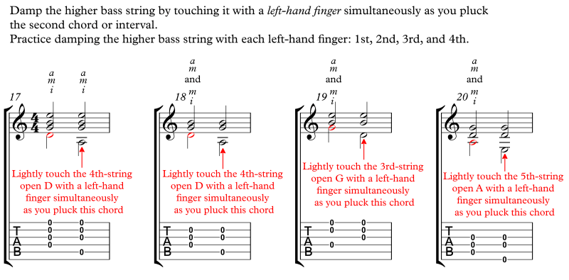 LH Damping With Chords Open Strings