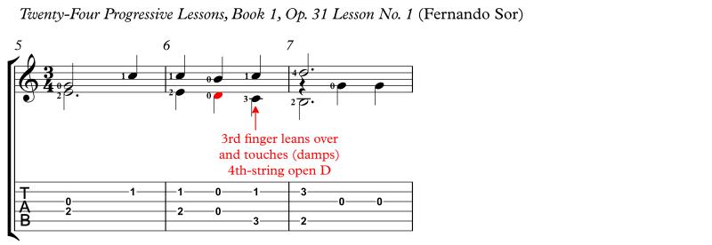 LH Finger Leaning Over Sor Op31 No1