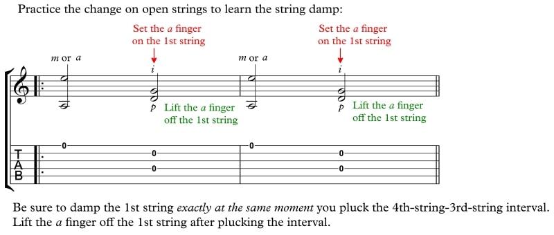 Ex48 Sor Op 31 No 1 Right Hand Damp Open Strings m13-14