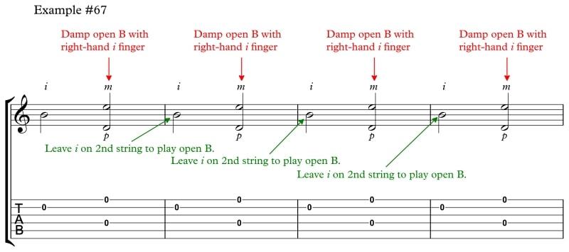 Ex 67 Robert Johnson Alman 2nd Damp Open Strings