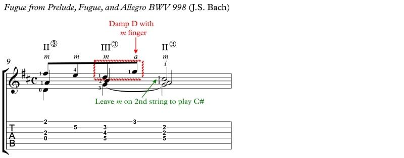 Ex 71 Bach Fugue Damp In Context