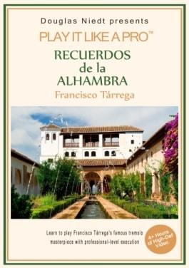 Recuerdos de la Alhambra classical guitar lesson