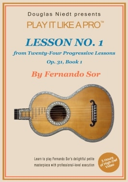 Sor Lesson 1 classical guitar lesson