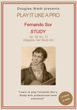 Sor Study No. 2 classical guitar lesson