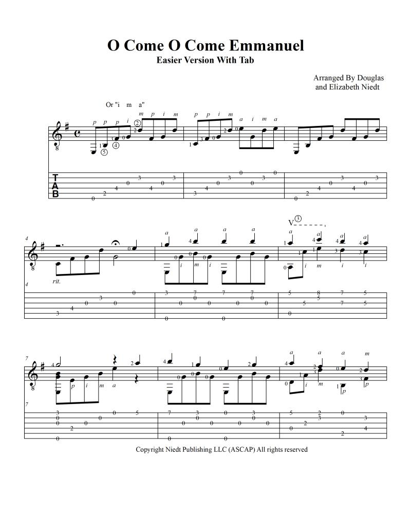 Easy Guitar Christmas Sheet Music Topsimages
