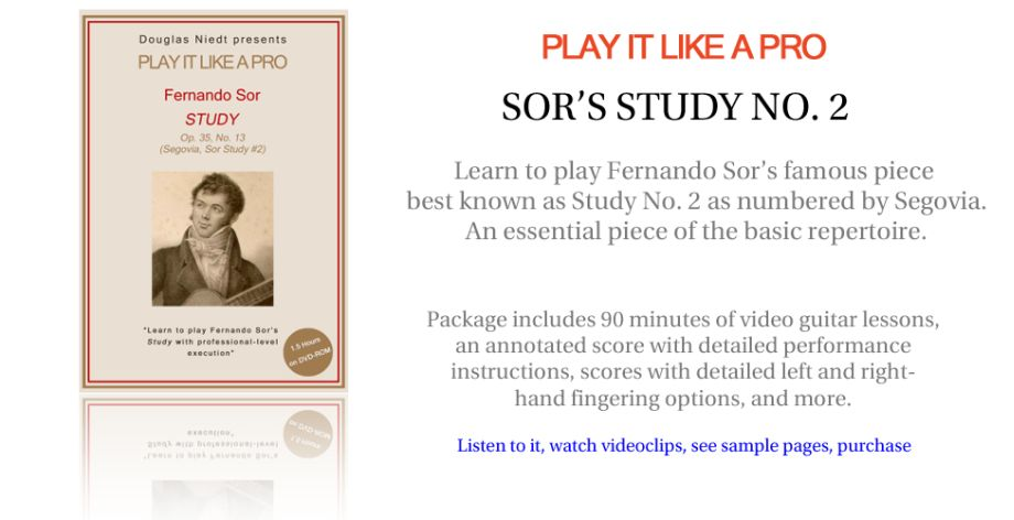 Play It Like a Pro--Sor's Study No. 2