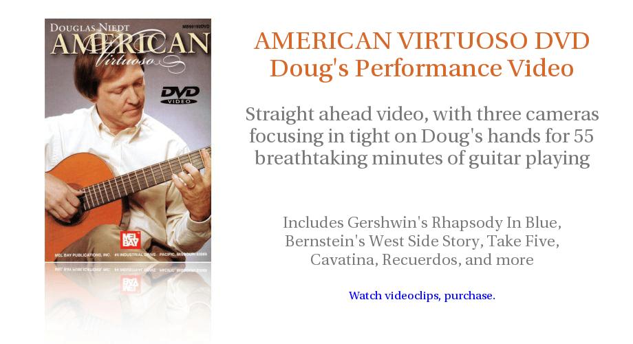 Douglas Niedt AMERICAN VIRTUOSO PERFORMANCE DVD