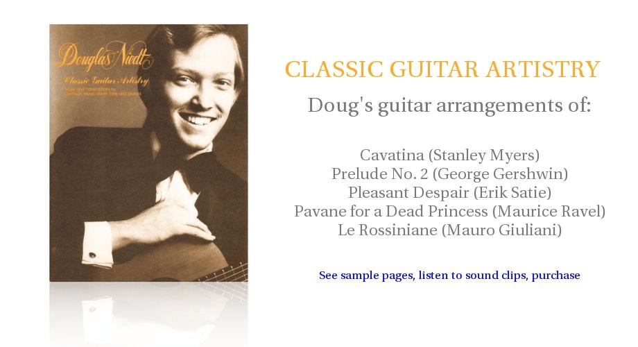 Douglas Niedt CLASSIC GUITAR ARTISTRY music folio