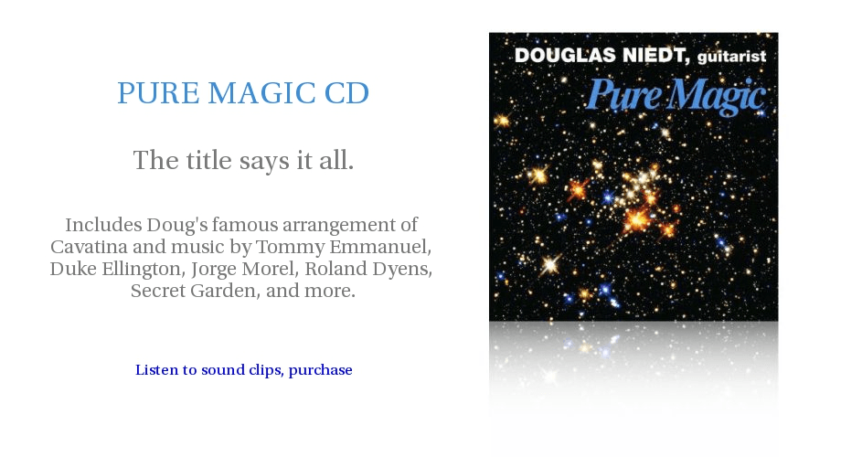 Douglas Niedt PURE MAGIC CD