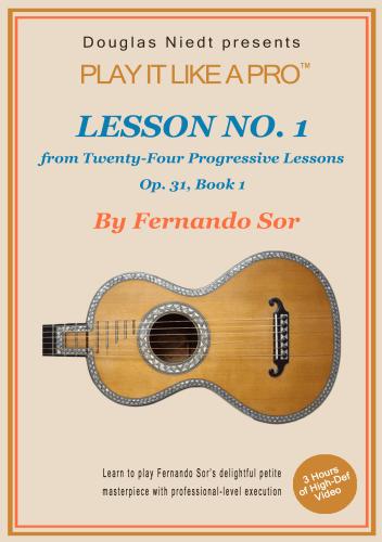 Fernando Sor Lesson 1 cover