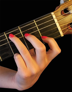 Bad left-hand classical guitar position